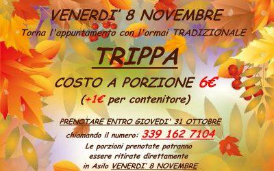 TRIPPA – Venerdì 8 novembre il tradizionale appuntamento